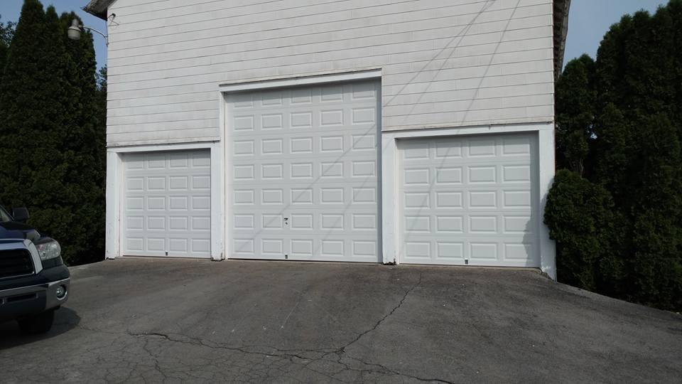 three new garage doors